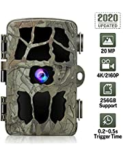 GRM Cámara de 20 MP para la vida silvestre, cámara de juego 4K, cámara de caza con visión nocturna