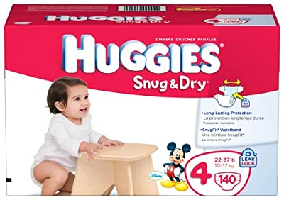 Huggies Snug & Dry Diapers, Size 4, Giant Pack, 140 Count by Huggies