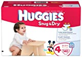 Huggies Snug and Dry Diapers, Size 4, Giant Pack, 140 Count, Health Care Stuffs