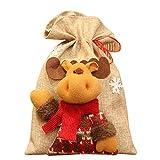 Marhiy 1Pcs Fawn Shape Bag Storage Bag Candy Bag 2028CM Khaki