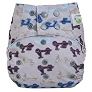 Sweet Pea Bamboo All in One, One Size Diaper, Moto