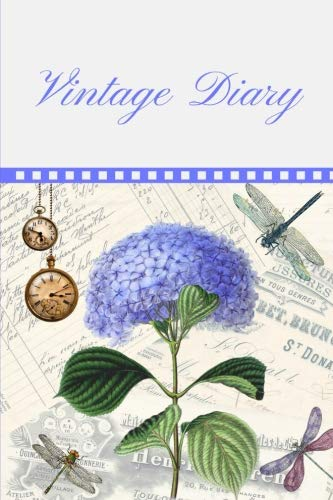 Vintage Diary: This Vintage Diary Consist of 100 Pages 6 X 9 Blank Lined, Compact to Carry Anywhere Suitable for Everyday Use