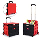 C&H HCC& Trolley Dolly Multipurpose Portable High Capacity Shopping Cart Office Depot Lever adjustable Mobile Folding Cart With Lid
