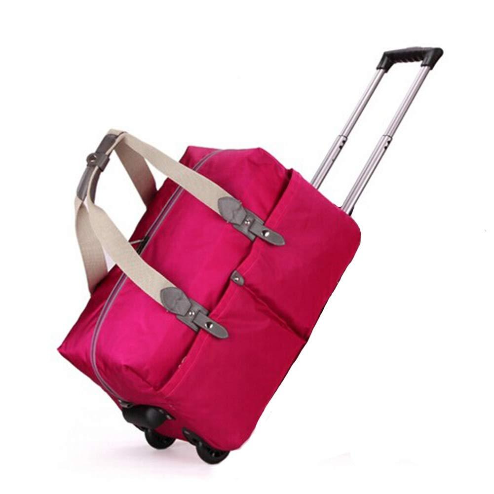 トロリースーツケースキャビンハンド荷物を運ぶ旅行キャビンハンド荷物ラップトップバッグエグゼクティブビジネスバッグトロリースーツケースを持ち歩く旅行防水ポータブルトラベルバッグ GAOFENG (色 : ローズレッド, サイズ さいず : 19 inches) 19 inches ローズレッド B07P54JH4C