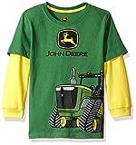 John Deere Little Boys' 2 for Tee, Green/Yellow, 5