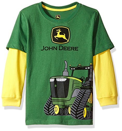 John Deere Little Boys' 2 for Tee, Green/Yellow, 7 from John Deere