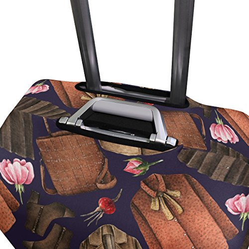Elastic Travel Luggage Cover Watercolor Coat Skirt Suitcase Protector for 18-20 Inch Luggage by My Little Nest (Image #3)