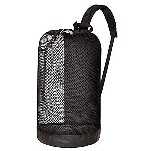 Stahlsac B.V.I. Mesh BackPack Perfect for Snorkeling Gear All Colors Snorkel Scuba Dive Diving Diver Beach Gear Boat Boating Sail Boat Sailing Travel Tote, BLACK