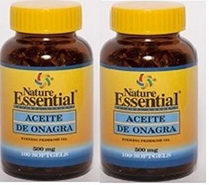 ACEITE DE ONAGRA 500 mg 100 cápsulas blandas. Pack de 2