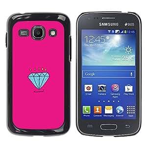 Paccase / SLIM PC / Aliminium Casa Carcasa Funda Case Cover para - Engagement Pink Cartoon - Samsung Galaxy Ace 3 GT-S7270 GT-S7275 GT-S7272