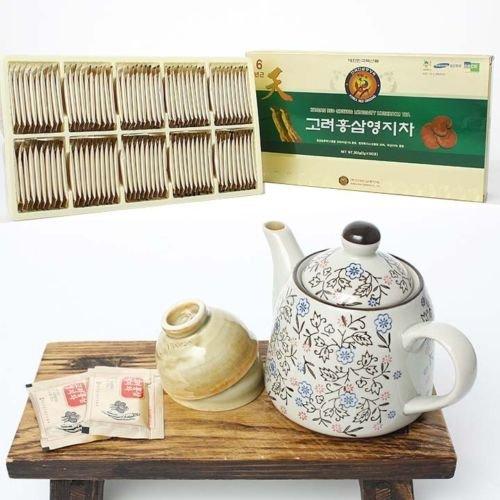 Red Ginseng + Reishi Mushroom Powdered Tea_3g X 100bags(300g or 10.3oz)