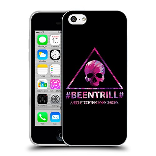 Official Been Trill Triangle Skull Colourful Prints Soft Gel Case for Apple iPhone 5c