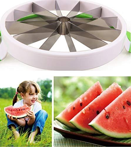 Watermelon Slicer Large Stainless Steel Fruit Cutter Kitchen Utensils Gadgets Large Melon Slicer by NEX (Image #6)