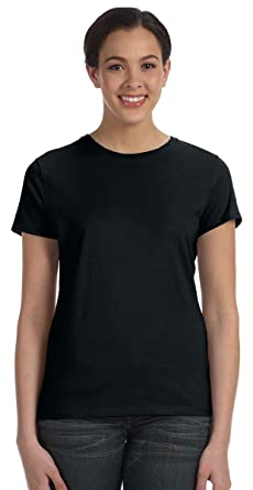 1fa6fea0 Hanes Ladies Nano-T Cotton T-Shirt at Amazon Women's Clothing store: