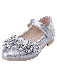 AMUR LEOPARD Kids Girls Mary Jane Shoes Diamonds Dance Wedding Princess Shoes(Toddler/Little Kid)