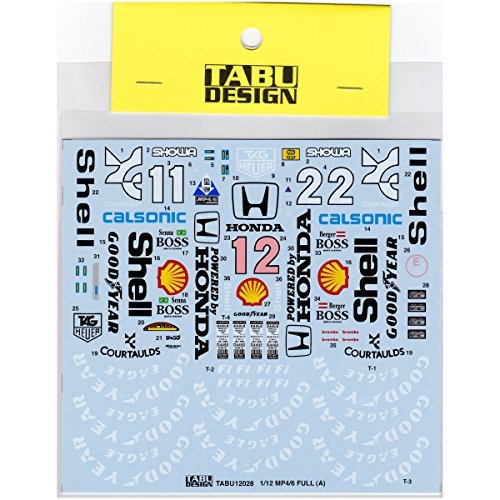 ([TABU DESIGN / Design] tab 1/12 McLaren MP4 / 6 Full Sponsor Decal)