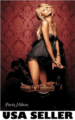 - Paris Hilton sultry pose POSTER 23.5 x 34 (sent FROM USA in PVC pipe)
