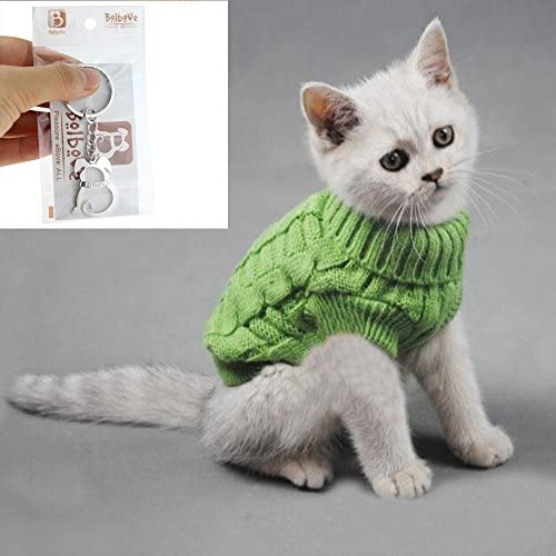 Bolbove Cable Knit Turtleneck Sweater for Small Dogs & Cats Knitwear Cold Weather Outfit 20