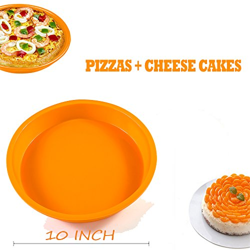DiDaDi Light Orange Silicone Cake Mold Pan, Round Cake Baking Pans, Non-Stick Bakeware