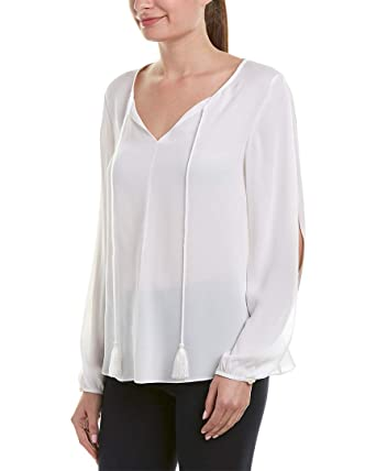 be667098dee69 St. John Womens Silk Top