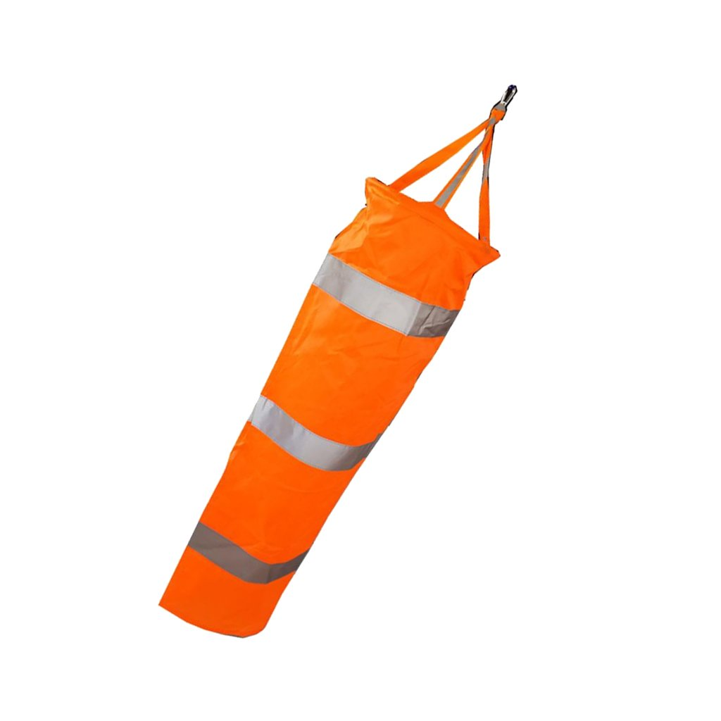 Flameer Airport Windsock Wind Cone 60,80,100,150cm Outside Wind Sock w/Reflective Belts - 150cm