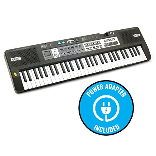 Plixio 61 Key Mid-Size Electric Piano Keyboard with Electronic Music Lesson Mode & Adapter - Image 3