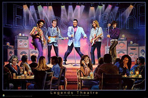 Legends Theatre   George Bungarda Poster 36 X 24In
