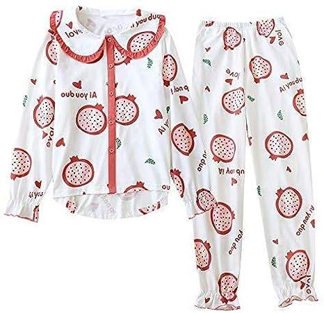 Albornoz La Sra pijamas primavera y otoño nuevo collar de la ...