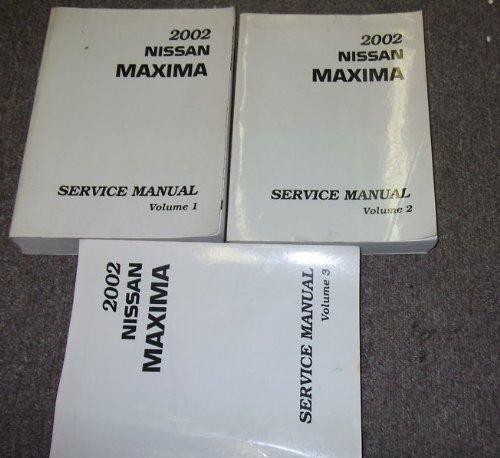 2002 Nissan Maxima Service Shop Repair Manual Set OEM