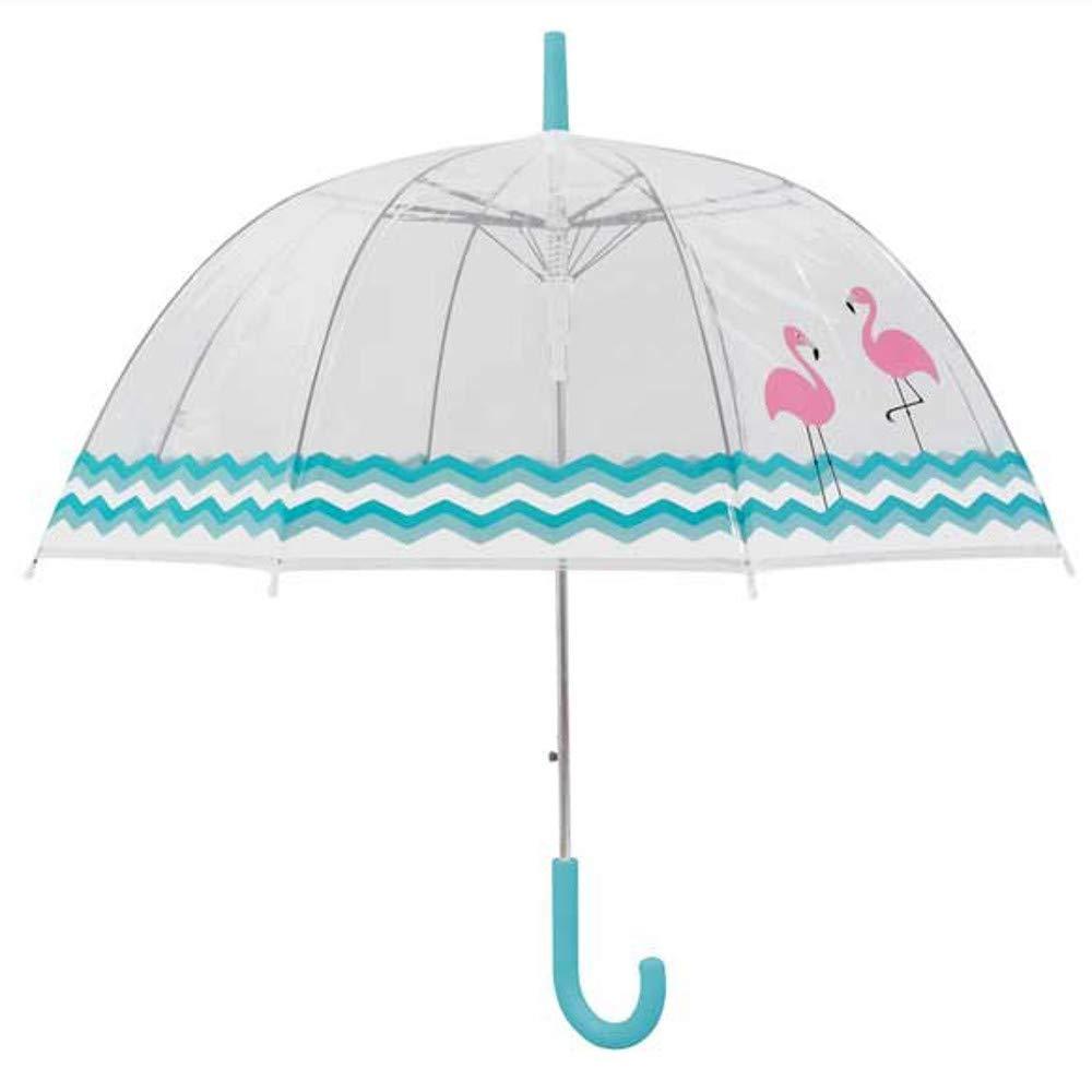 Flamants roses les pieds dans leau Parapluie cloche transparente femme