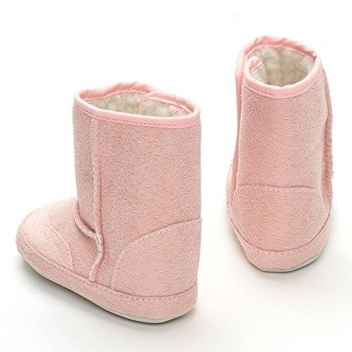De cierre de diseño de palabra en inglés de seguridad para anclaje en de botas cubiertas de lodo, color Rosa, talla 12-18 meses Rosa - rosa