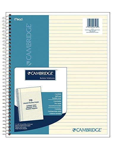 CASE OF 12 Cambridge Ivory Wirebound Notebook, 70 sheets (06196)
