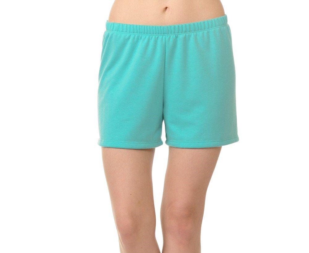 bluensquare Womens Shorts Lounge Wear Soft Simple Comfy Pajama Shorts (Aqua Mint, X-Large)
