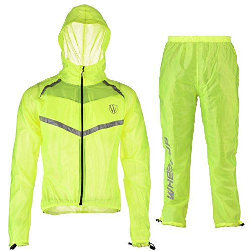- Estink Rainwear Suit, Unisex Outdoor Windproof Waterproof Rainwear Suits Cycling Sports Rain Coat Pants(XL-Fluorescent Green)