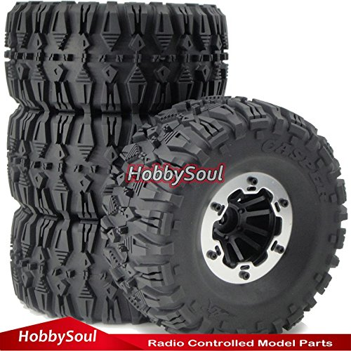 RC 2.2 Beadlock Wheels & AR Casper 135mm Crawler Tires, 4 pieces,for RC 4WD Axial Tamiya