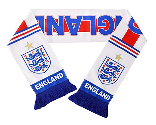 JAVI Sports FIFA 2018 World Cup National Team Scarves - All 32 Clubs to Choose from - Footbal Soccer Scarf (England Alt. 1)
