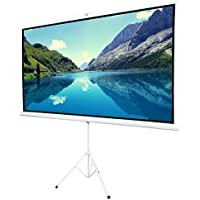 ShowMaven 100 16:9 HD Adjustable Tripod Projector Projection Screen Portable Pull Up Foldable Stand