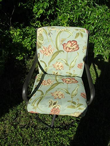 Patio Dining Chair Cushion Covers, Set of 6 for 6 Chairs. Max 20 x 20 x 4 Cushion Size. Top and Bottom Cushions in Same Twill Hibachis Covers. Machine Washable.NO Inserts ()