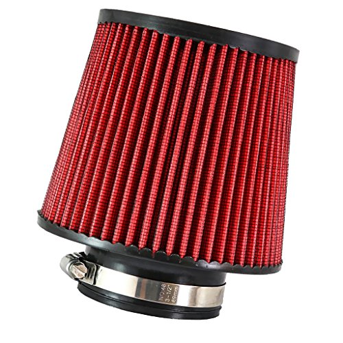 Turbo 3' Inlet (MagiDeal Red 3'' Car Truck Turbo Cold Air Filter Round Cone High Flow)