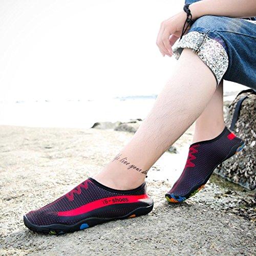 Chaussures De Sport Nautiques, Encre Sèche Pieds Nus À Séchage Rapide Femmes / Hommes / Enfants Chaussettes Aqua Pour Piscine De Natation Surf Yoga Plage Snorkeling Chaussettes Noir