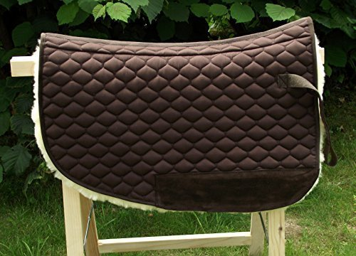 Short - Roundskirt Satteldecke - Sattelpad aus echtem Lammfell für Westernsattel mit Wirbelsäulenfreiheit