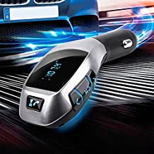Bluetooth FM Transmitter, BeiLan Car Adaptor Bluetooth Car Kit FM Transmitter Radio mp3 Player Car Cigarette with USB SD Card Slot for TF Card All Smartphones and Other Bluetooth Device
