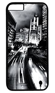 Building Black And White City Thanksgiving Halloween Masterpiece Limited Design PC Black Case for iphone 6 by Cases & Mousepads