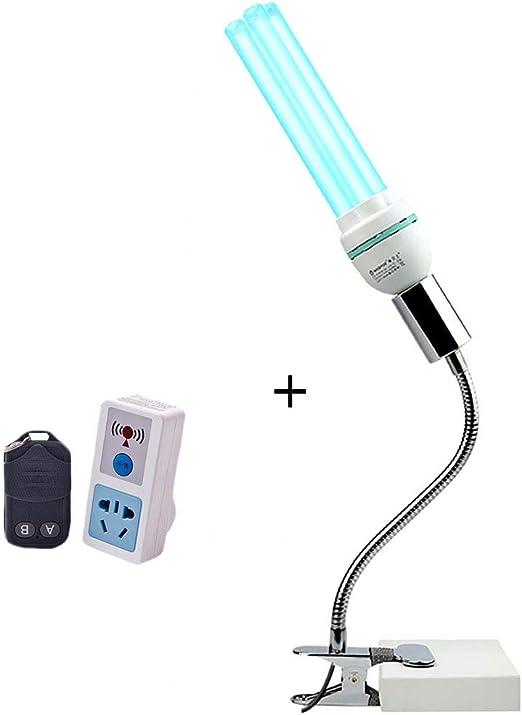 Lámpara Ultravioleta Germicida Lámpara De Desinfección UV Luz LED Germicida Luz Purificador De Aire Ácaros Instrumento para Baño Cocina Aseo Dormitorio: Amazon.es: Hogar
