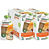 Sprout Organic Baby Food Pouches Stage 3 Sprout Baby Food, Harvest Vegetables Apricots with Chicken, 4 Ounce (Pack of 12); USDA Organic, Non-GMO, 3 Grams of Protein, Free Range Chicken