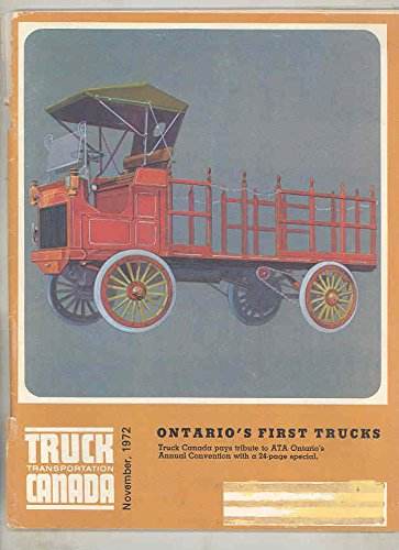 November 1972 Truck Transportation Canada Automobile Magazine from TRUCK