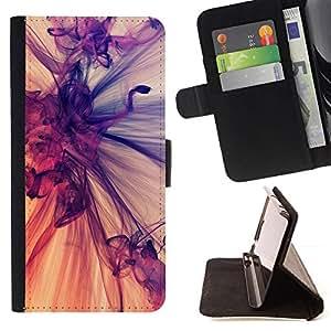 GIFT CHOICE / Billetera de cuero Estuche protector Cáscara Funda Caja de la carpeta Cubierta Caso / Wallet Case for Apple Iphone 4 / 4S // Cool Motion Graphic Art //