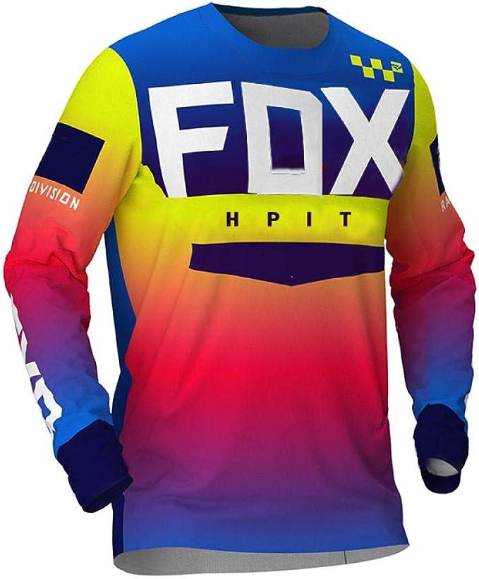 PYMNDZ Jerseys de Descenso para Hombre hpit Fox Camisas ...