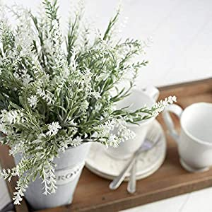 Factory Direct Craft 6 Realistic Looking Artificial White Rosemary Blossom | Fresh Look Rosemary Flower for Home, Wedding, or Party Decoration 39