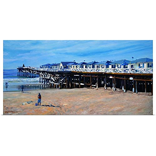 Great Big Canvas Poster Print Entitled Crystal Pier Pacific Beach San Diego by RD Riccoboni 24